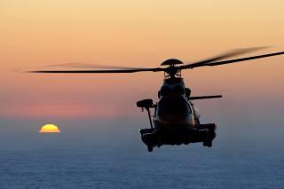 Airbus, h225, sar, Vrtulník, moře, západ slunce
