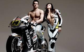 chlap, holka, bike, playboy