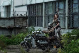 байкерша, постапокалиптический, 300-сильный, мотоцикл, GangRena