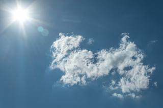 the sky, clouds, minimalism