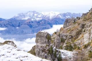гори, вершини, сніг