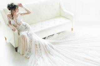 дівчина, наречена, сукню