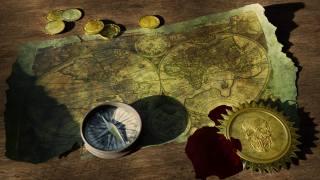 гроші, монети, Географическая карта, Старий, компас