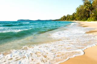 море, хвилі, тропіки, піна, пляж, природа