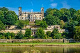 Німеччина, замок, Albrechtsberg, замок, дерева, місто
