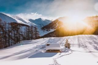 зима, сніг, природа